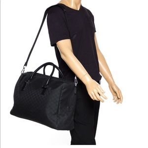 Gucci Black GG Weekender Travel Bag